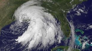 Satellite image of Tropical Storm Lee over Louisiana