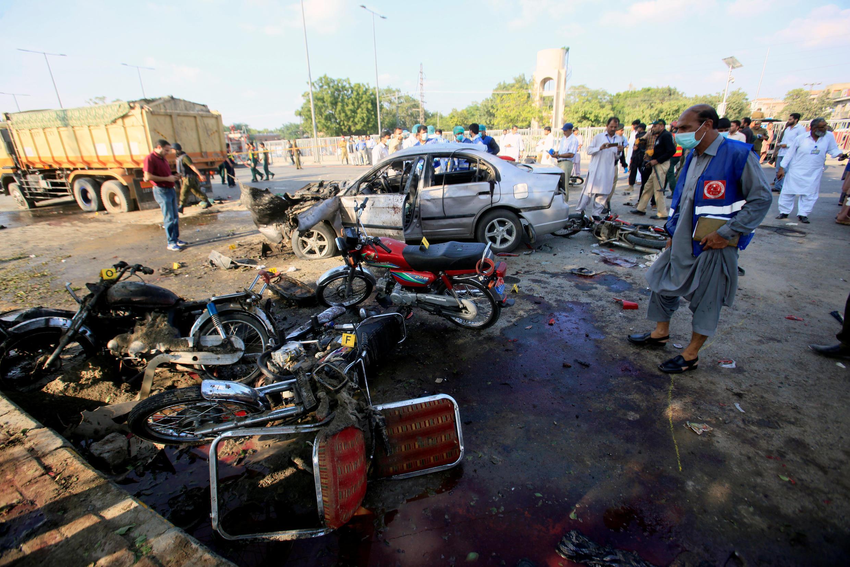 巴基斯坦拉合爾市一處市場發生恐怖爆炸至少25人死亡