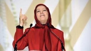MEK leader Maryam Radjavi addresses a conference in 2012