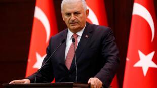 El Primer ministro turco Binali Yildirim el 15 de julio del 2016.