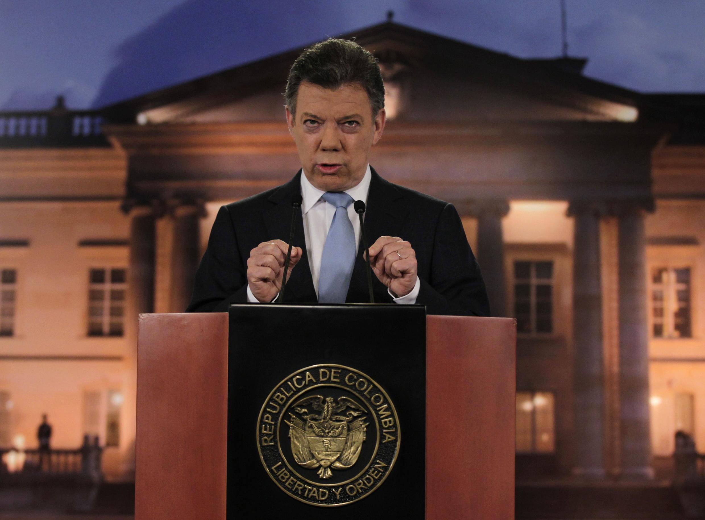 O presidente da Colômbia, Juan Manuel Santos (foto de arquivo).