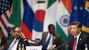 美國總統奧巴馬中國主席習近平2016年9月4日杭州