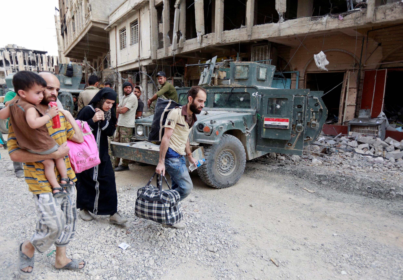 Mais de um milhão de pessoas fugiram da cidade iraquiana de Mossul desde o início dos combates em outubro. Iraque 07/07/17