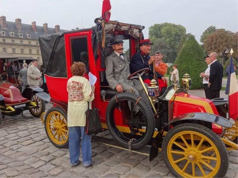 A WWI-era taxi in Paris commemorating the 'Taxis de la Marne'