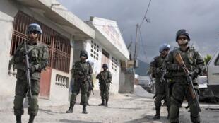 Agentes de la MINUSTAH en Haití.