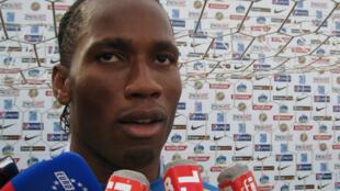 Didier Drogba au micro de RFI.