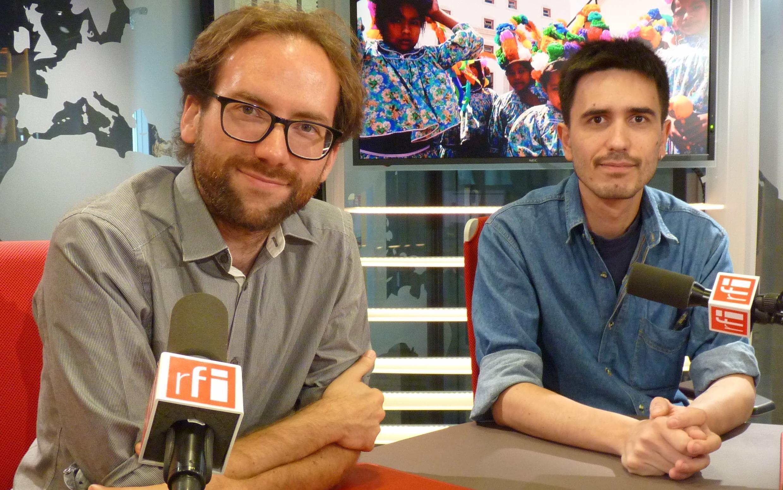 Romain Robinet y Daniele Inda en los estudios de RFI