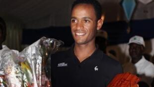 L'Erythréen Natnael Berhane lors de la Tropicale Amissa Bongo 2013.