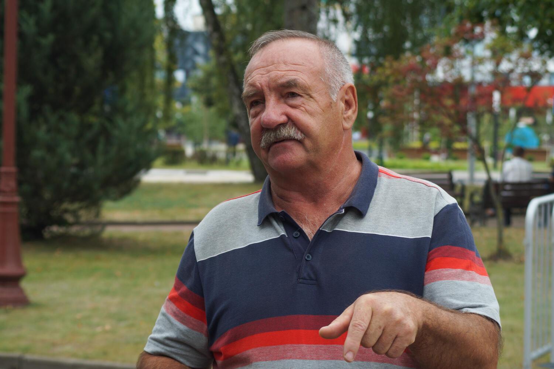 Легендарный Николай Зимин, 67-летний шахтер и профсоюзный лидер, который в 1992 году стоял во главе последней забастовки на «Беларуськалии»