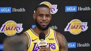 El jugador de Los Angeles Lakers LeBron James, en una imagen de archivo