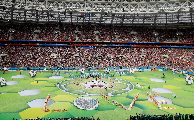 La cérémonie d'ouverture de la Coupe du monde de football 2018 au stade Loujniki de Moscou.