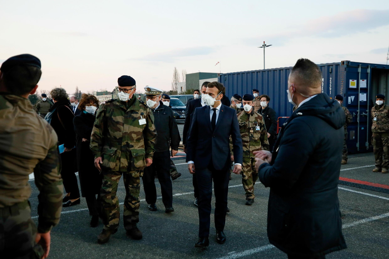 France - Mulhouse - Emmanuel Macron - hôpital militaire