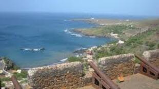 Baía da Cidade Velha em Cabo Verde