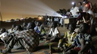 Dans la banlieue de Ouagadougou, lors d'une des précédentes éditions du festival panafricain du cinéma et de la télévision (FESPACO).
