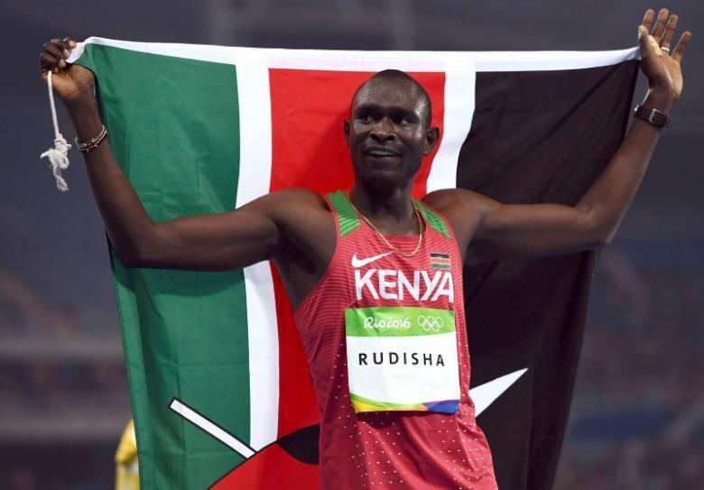 Data daga cikin 'yan wasan da suka wakilci Kenya a gasar Olympics ta 2016 da Brazil ta karbi bakunci, David Lekuta Rudisha.