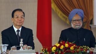 中國總理溫家與印度總理辛格(2010年12月16日)