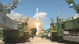 Запуск ракеты-носителя состоялся на космодроме Байконур в 9.36 по Москве