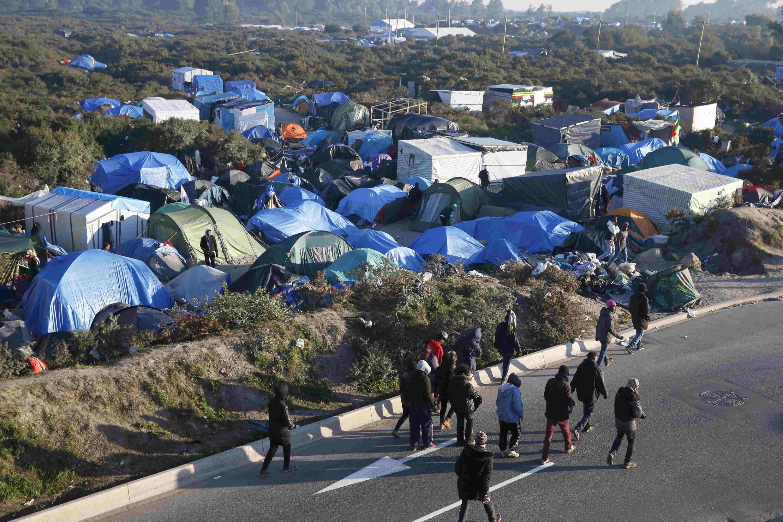 Лагерь нелегальных мигрантов во французском Кале