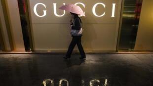 Fachada de loja da Gucci na China, principal mercado para marcas de luxo, mas que registra uma desaceleração nas vendas.