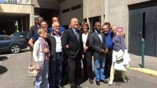 Bruno Bonnel, candidat La République en Marche avec ses supporters.