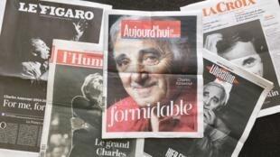 Portadas de los diarios franceses este 2 de octubre de 2018.