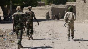 Des militaires nigériens dans le Tillabéry (Image d'illustration).