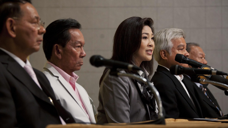 Puea Thai Party's Yingluck Shinawatra announces governing coalition