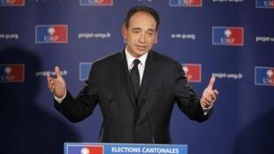 Jean François Copé, líder do partido UMP, do presidente Nicolas Sarkozy.