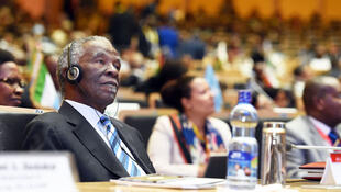 Thabo Mbeki, chairperson of AUHIP, during African Union summit in Addis Ababa, 31 January 2015