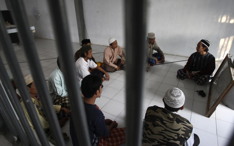 Des militants islamistes emprisonnés à la prison de Porong dans l'est de Java en 2011 (image d'illustration).