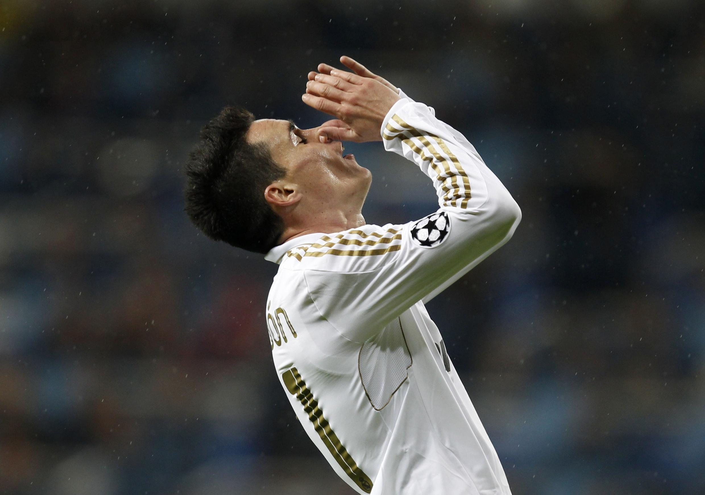 José Callejon, atacante do Real Madrid, comemora gol na vitória contra o Dínamo, nesta terça-feira.
