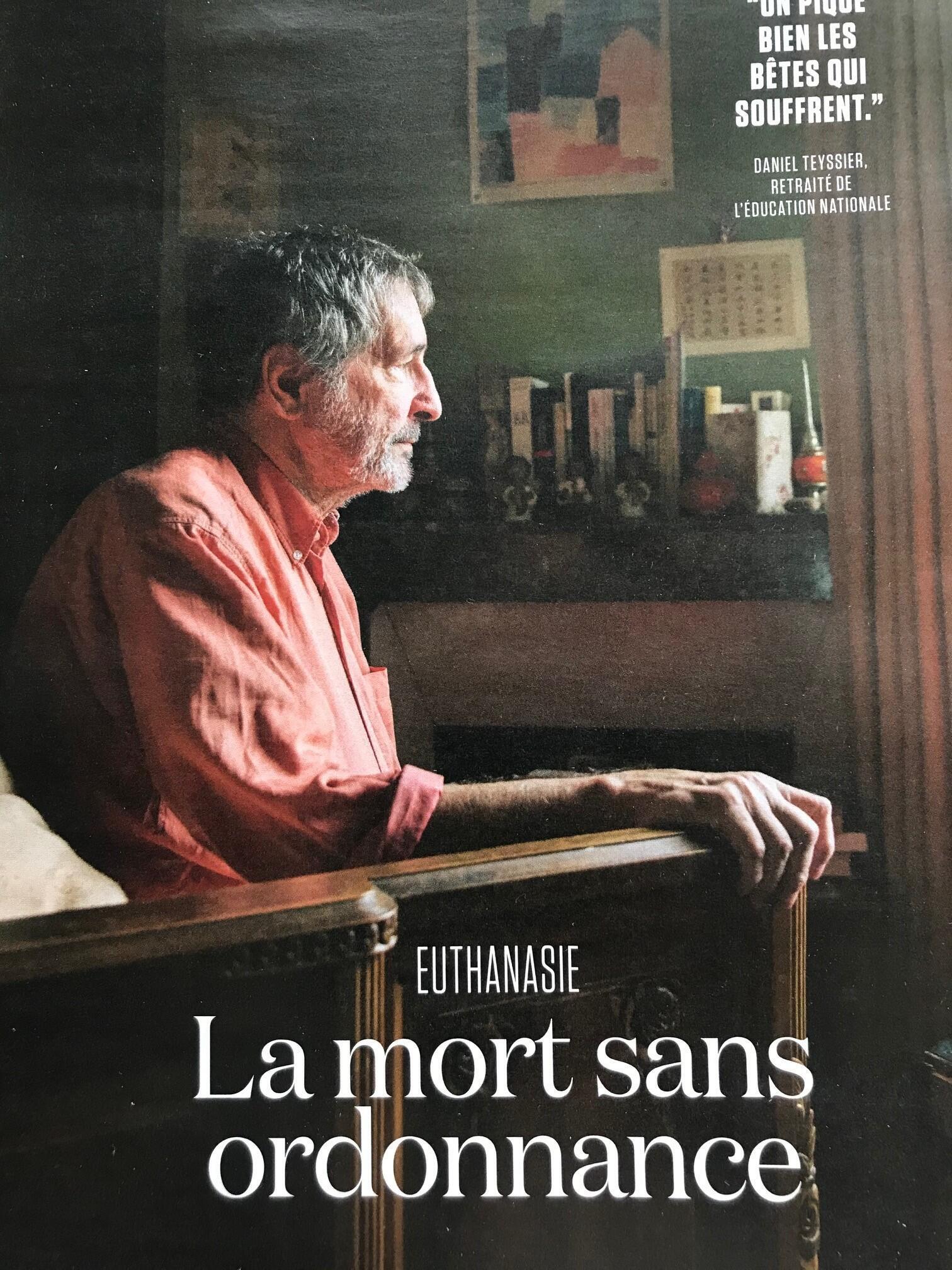 Reportagem da revista L'Obs com ativistas defensores da eutanásia.