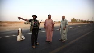 Rebeldes en las cercanías de Bani Walid, el 3 de septiembre de 2011.