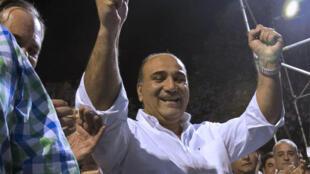 Juan Manzur celebra su victoria en Tucumán, el pasado 14 de septiembre de 2015.