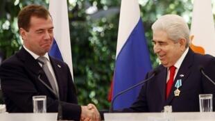 Встреча Д. Медведева с  президентом Греческой Республики Кипр Деметрисом Кристофиасом