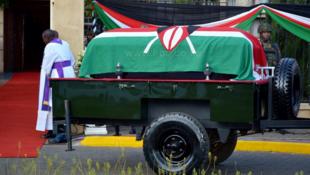 Mwili wa rais wa aliyekuwa rais wa Kenya Daniel Arap Moi, Februari 11 2020