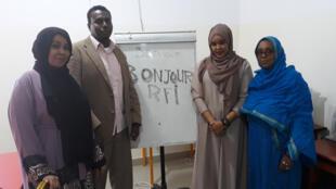 Le centre d'études du français de l'université Edna Aden (g. à dr.): Yasmine Mahamoud Abdillahi, Abdourahman Ali Daher, Hibaq Mohamed, Halima Yusuf