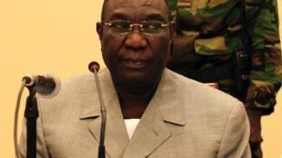 Michel Djotodia lors d'une conférence de presse à Bangui, le 24 décembre 2013.