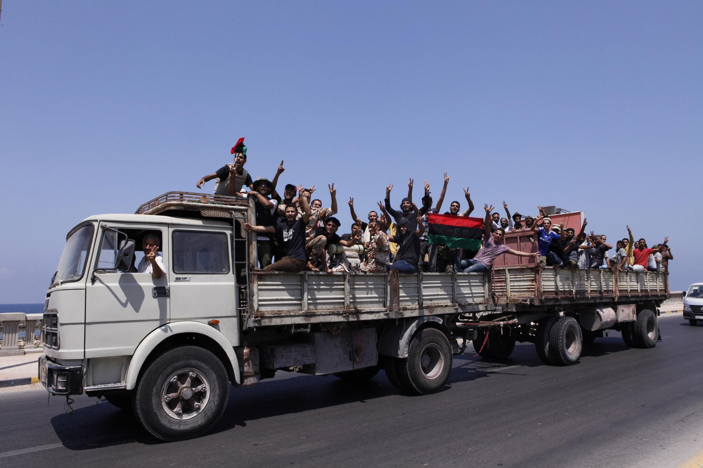 Rebels arrive in Tripoli on 26 August