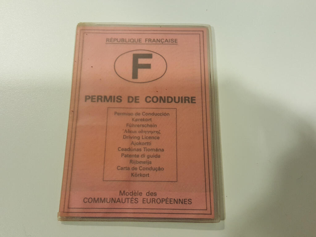 The French driver's licence.