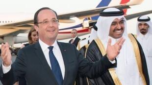 Франсуа Олланд в Катаре 23/06/2014