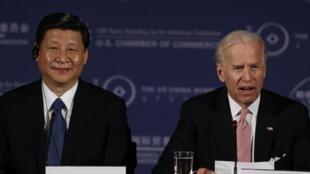 Shugaban Amurka Joe Biden da takwaransa na China Xi Jinping.