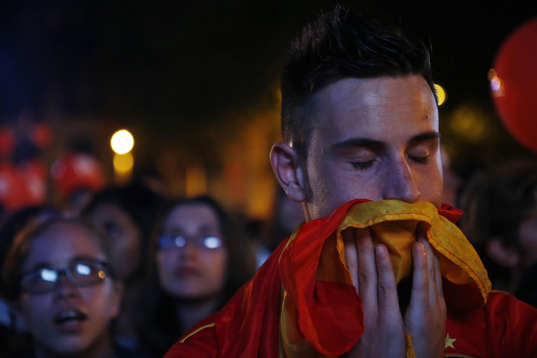 La déception des Madrilènes à l'annonce de l'élimination de la capitale espagnole pour l'organisation des JO 2020.