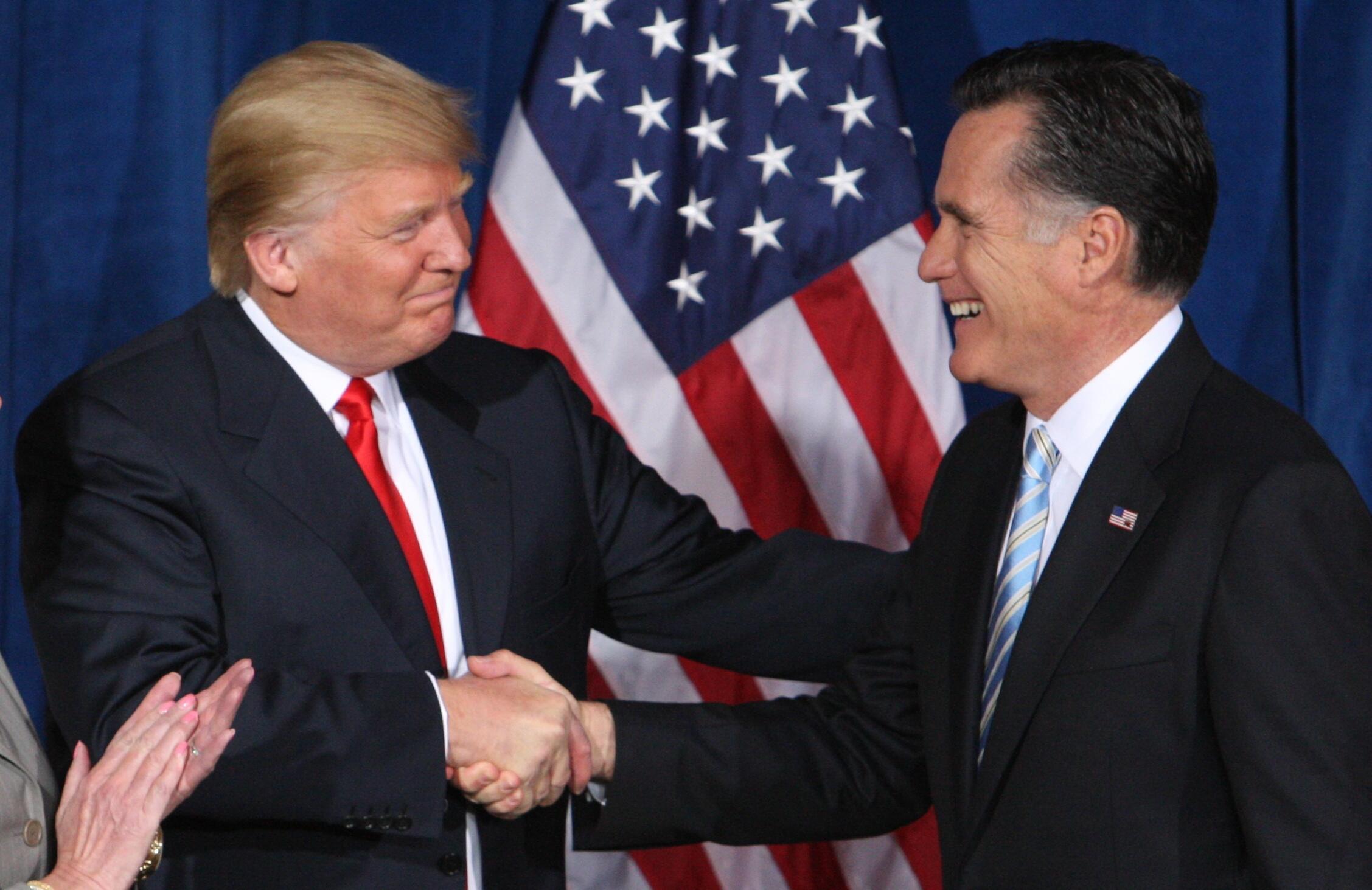 En soutien du candidat républicain Mitt Romney en 2012.