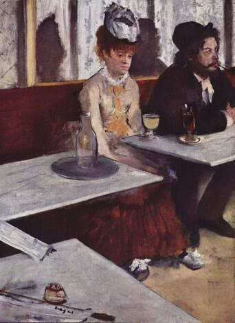 It makes you happy, really! The Absinthe Drinkers by Edgar Degas