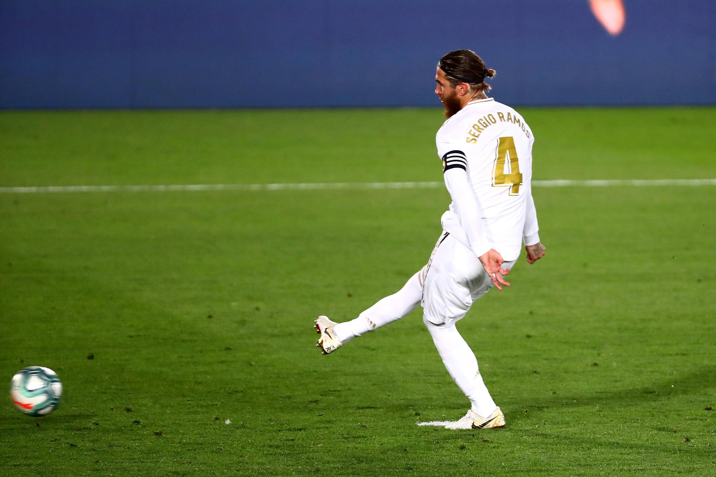 Sergio Ramos, defesa espanhol, apontou o único tento do Real Madrid frente ao Athletic Bilbau.