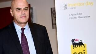 El director ejecutivo del grupo energético italiano Eni, Claudio Descalzi, en la Bolsa de Milán, en Italia, el 4 de abril de 2016