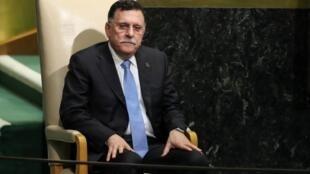 Fayez al-Sarraj, le chef du gouvernement d'union nationale en Libye, le 20 septembre 2017 à l'ONU..