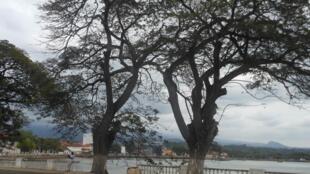 Zona marginal de São Tomé, a capital