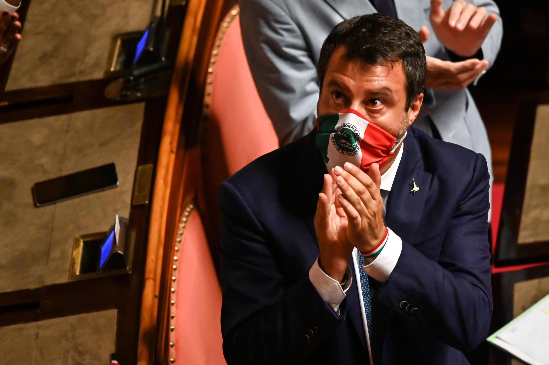 Líder do partido de extrema-direita, Matteo Salvini.